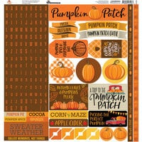 Reminisce - Pumpkin Patch Collection - 12 x 12 Elements Stickers