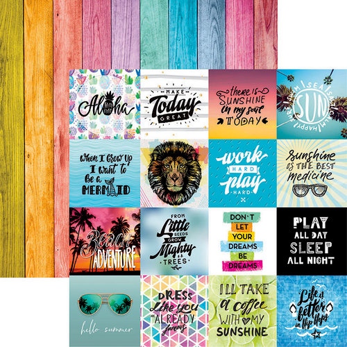Reminisce - Quote Book Collection - 12 x 12 Double Sided Paper - Hello Summer