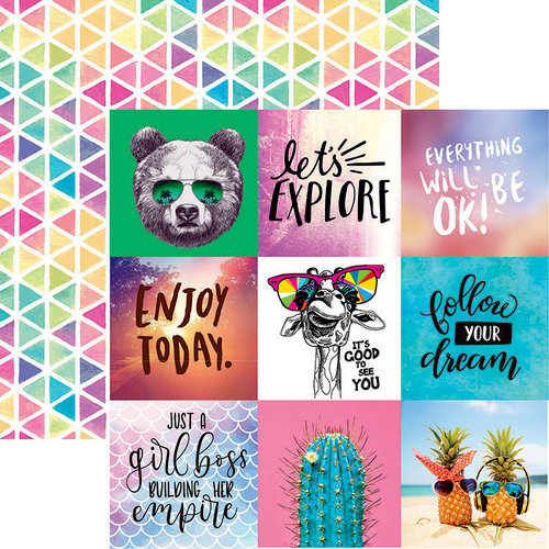 Reminisce - Quote Book Collection - 12 x 12 Double Sided Paper - Happy Day
