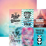Reminisce - Quote Book Collection - 12 x 12 Double Sided Paper - Smile