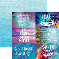 Reminisce - Quote Book Collection - 12 x 12 Double Sided Paper - Sunshine and Rainbows