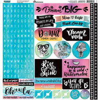 Reminisce - Quote Book Collection - 12 x 12 Cardstock Stickers - Alpha