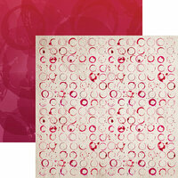 Reminisce - Rose All Day Collection - 12 x 12 Double Sided Paper - Wine Time