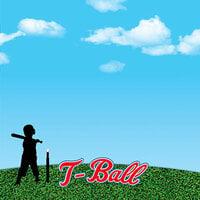 Reminisce - 12 x 12 Paper - T-Ball