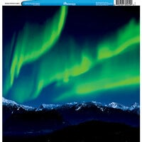 Reminisce - Customs Collection - 12 x 12 Single Sided Paper - Alaskan Northern Lights