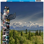 Reminisce - Customs Collection - 12 x 12 Single Sided Paper - Alaskan Totem