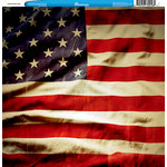 Reminisce - Customs Collection - 12 x 12 Single Sided Paper - United States Flag