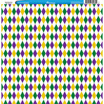 Reminisce - Customs Collection - 12 x 12 Single Sided Paper - Mardi Gras Party - New Orleans 3