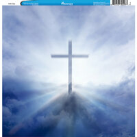 Reminisce - Customs Collection - 12 x 12 Single Sided Paper - Faith Cross