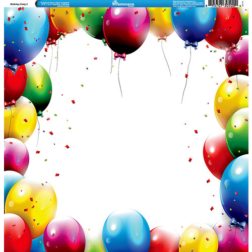 Reminisce - Birthday Party Collection - 12 x 12 Single Sided Paper - Birthday Party 2