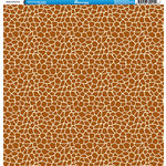 Reminisce - Animal Prints Collection - 12 x 12 Double Sided Paper - Giraffe