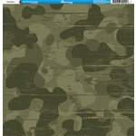 Reminisce - Camo Prints Collection - 12 x 12 Double Sided Paper - Camouflage 1