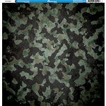 Reminisce - Camo Prints Collection - 12 x 12 Double Sided Paper - Camouflage 5
