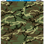 Reminisce - Camo Prints Collection - 12 x 12 Double Sided Paper - Camouflage 7