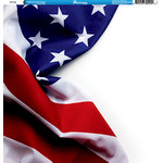 Reminisce - Military Collection - 12 x 12 Single Sided Paper - USA Flag