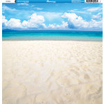 Reminisce - Hawaii Collection - 12 x 12 Double Sided Paper - The Beach
