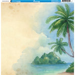 Reminisce - Hawaii Collection - 12 x 12 Double Sided Paper - Hawaiian Watercolor