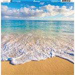 Reminisce - Hawaii Collection - 12 x 12 Single Sided Paper - Hawaiian Beach