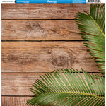 Reminisce - Hawaii Collection - 12 x 12 Double Sided Paper - Hawaiian Palm on Wood