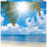 Reminisce - Tropical Collection - 12 x 12 Double Sided Paper - Landscape