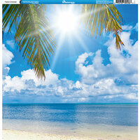 Reminisce - Tropical Collection - 12 x 12 Single Sided Paper - Landscape