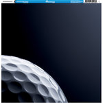 Reminisce - Golf Collection - 12 x 12 Double Sided Paper - Golf Ball Background