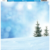 Reminisce - Winter Collection - 12 x 12 Single Sided Paper - Sledding Hill