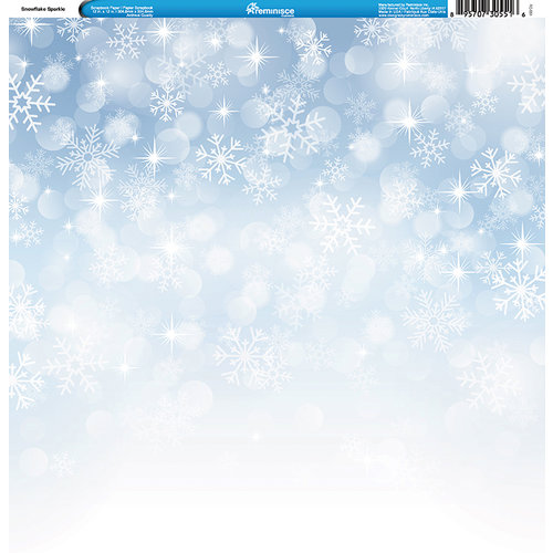 Reminisce - Winter Collection - 12 x 12 Single Sided Paper - Snowflake Sparkle