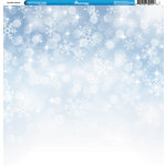 Reminisce - Winter Collection - 12 x 12 Double Sided Paper - Snowflake Sparkle