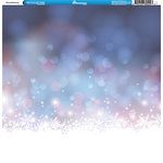 Reminisce - Winter Collection - 12 x 12 Double Sided Paper - Snow Background