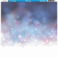Reminisce - Winter Collection - 12 x 12 Single Sided Paper - Snow Background