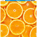Reminisce - Orange Collection - 12 x 12 Single Sided Paper - Slices