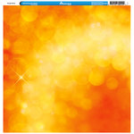 Reminisce - Orange Collection - 12 x 12 Single Sided Paper - Bokeh