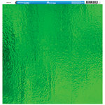 Reminisce - Foil Images Collection - 12 x 12 Single Sided Paper - Green