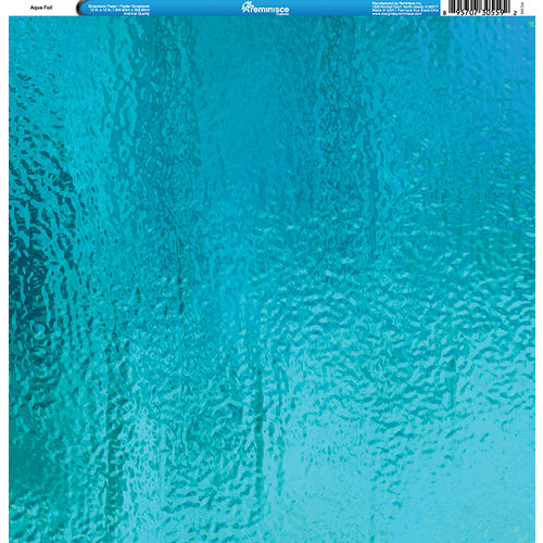 Reminisce - Foil Images Collection - 12 x 12 Single Sided Paper - Aqua