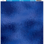 Reminisce - Foil Images Collection - 12 x 12 Double Sided Paper - Blue