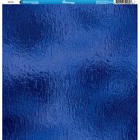 Reminisce - Foil Images Collection - 12 x 12 Single-Sided Paper - Blue