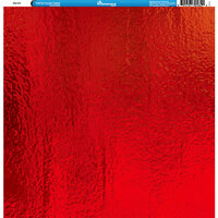 Reminisce - Foil Images Collection - 12 x 12 Single-Sided Paper - Red