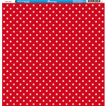 Reminisce - 4th of July Collection - 12 x 12 Double Sided Paper - Stars on Red