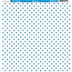 Reminisce - 4th of July Collection - 12 x 12 Double Sided Paper - Blue Stars on White
