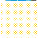 Reminisce - 4th of July Collection - 12 x 12 Single Sided Paper - Yellow Stars on White