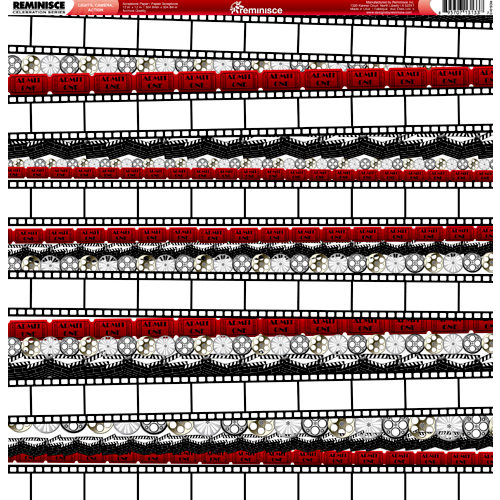 Reminisce - Hollywood Collection - 12 x 12 Double Sided Paper - Lights, Camera, Action