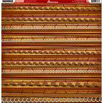 Reminisce - Western Collection - 12 x 12 Double Sided Paper - Cowboy Stripe