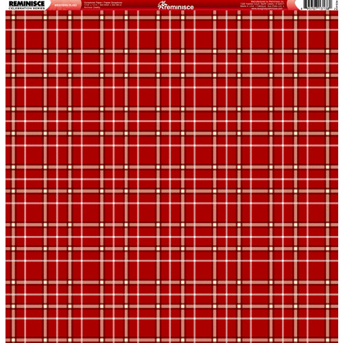 Reminisce - Western Collection - 12 x 12 Double Sided Paper - Western Plaid