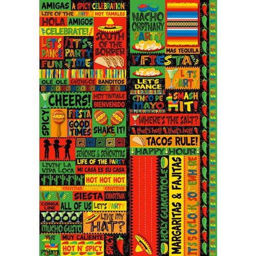 Reminisce - Fiesta Collection - Die Cut Cardstock Stickers - Quote
