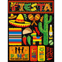 Reminisce - Fiesta Collection - 3 Dimensional Die Cut Stickers - Fiesta 1