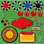 Reminisce - Casino Collection - 12 x 12 Cardstock Stickers - Icon