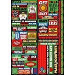 Reminisce - Casino Collection - Die Cut Cardstock Stickers - Quote