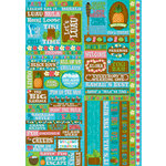 Reminisce - Luau Collection - Die Cut Cardstock Stickers - Quote