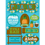 Reminisce - Luau Collection - 3 Dimensional Die Cut Stickers - Luau 1